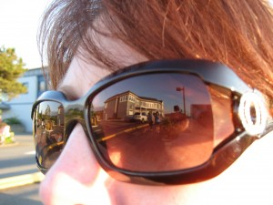 Nice Reflection Shot off of Kathy's Glasses